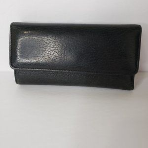 Buxton Black Leather Card Holder Wallet